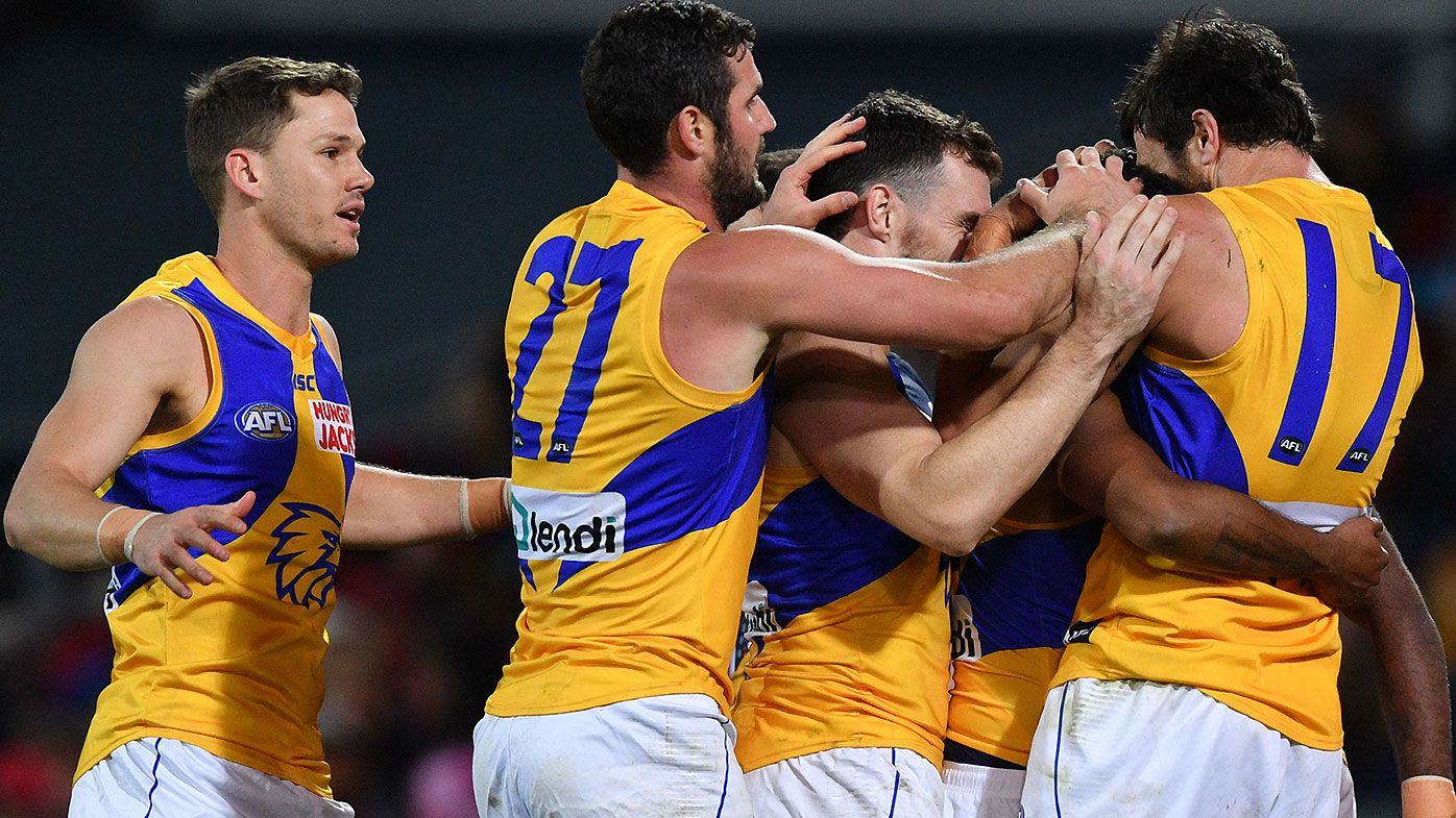 Late Oscar Allen goal gives West Coast Eagles remarkable comeback win over Adelaide Crows