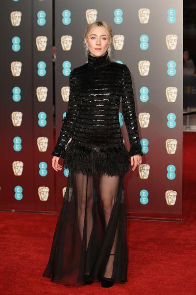 Saoirse Ronan in Chanelat the British Academy Film Awards (BAFTAs)