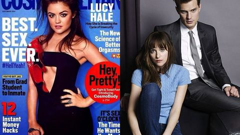 Lucy Hale / Dakota Johnson Jamie Dornan