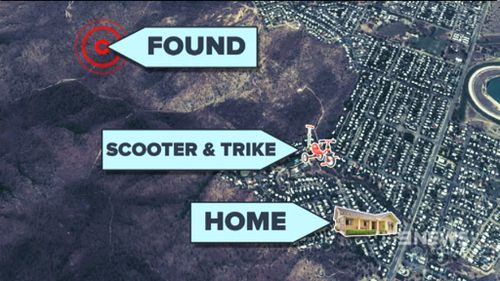 The boys were found about 400m from their home. (9NEWS)