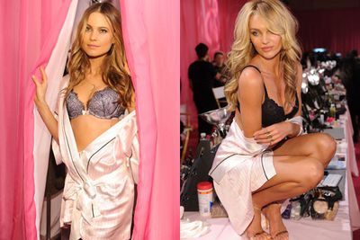 Behati and Candice look effortlessly sultry pre-show