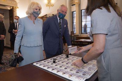 Prince Charles and Camilla visit Bank of England, October 2020