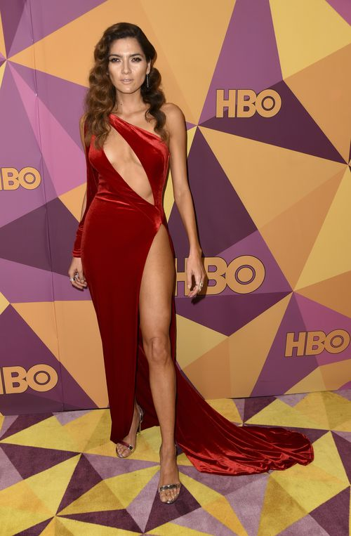 In January, she made headlines for wearing a revealing red dress to the Golden Globes. (AAP)