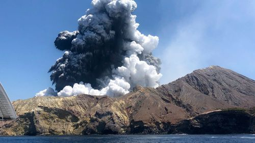 Tour groups were on the island when it erupted.
