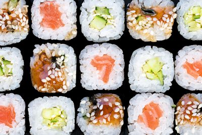 Sushi: 92mcg of iodine per 100g roll
