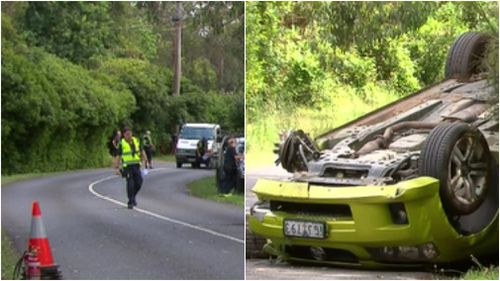 The scene of the Monbulk crash in December last year. (9NEWS)