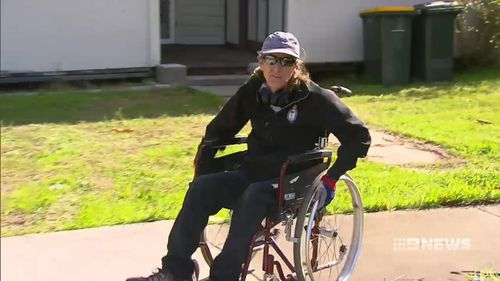George Nicholls was thrown out of his wheelchair and robbed. Picture: 9NEWS