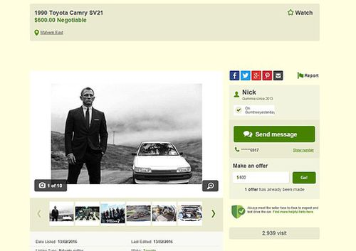 The ad on Gumtree has now received over 3000 views. (Gumtree)
