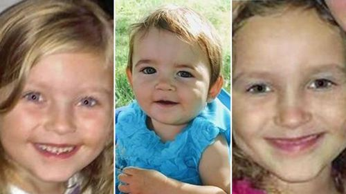 Kyrie Rodery, 8, Alaina Rau, 2 and Cassidy Rodery, 6 were found dead last Monday.