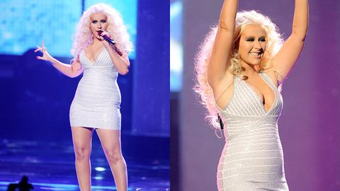 Christina Aguilera performs at the 2011 AMAs