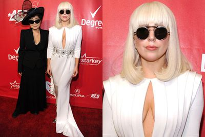 Lady Gaga performed at last year's Grammys, but was nowhere to be seen at this year's event. Just two nights earlier she performed at the MusiCares Gala for a Carole King tribute, hanging out with Yoko Ono. <br/><br/>Of course, Yoko presented at the Grammys, which honoured The Beatles with a lifetime achievement award and reunited Paul McCartney and Ringo Starr. Gaga sure missed out!