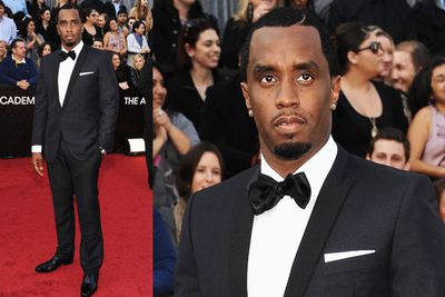 We don't know how Sean Combs (aka Diddy) manages to pull off rapper gear one day, and man of fashion the next, but geez he does a suit well! We're not sure about the goatee action though... shaving mishap, perhaps?