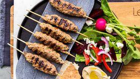 Lebanese plates lamb kafta