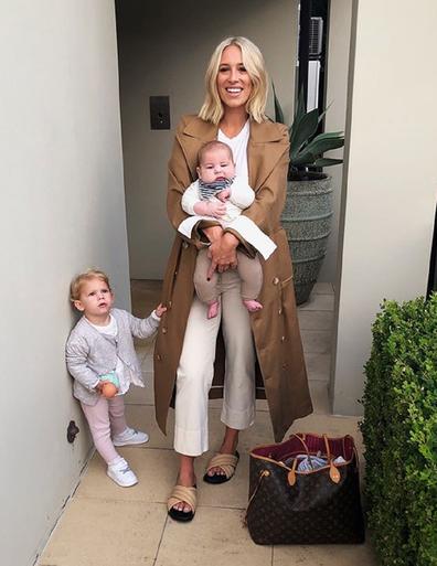Phoebe with both kids