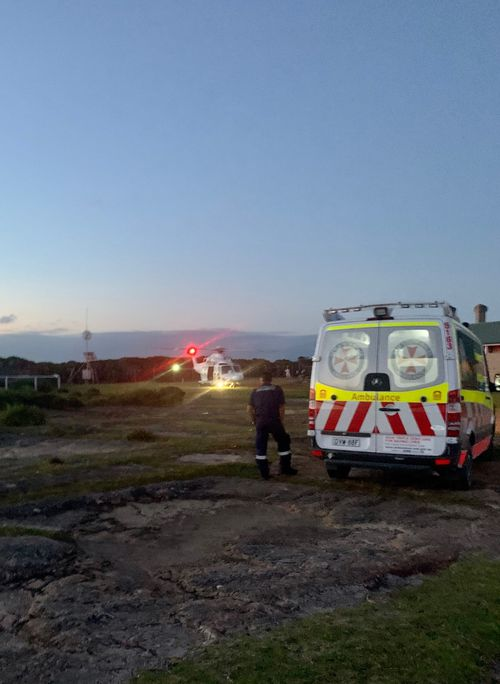 Five crews and the Toll Ambulance Rescue Helicopter were dispatched to the scene.