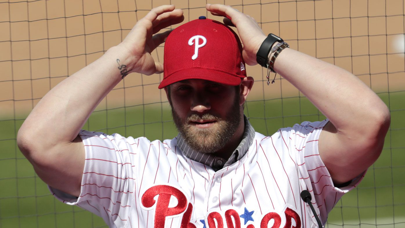 Bryce Harper makes $466m gaffe after being presented as Phillies player