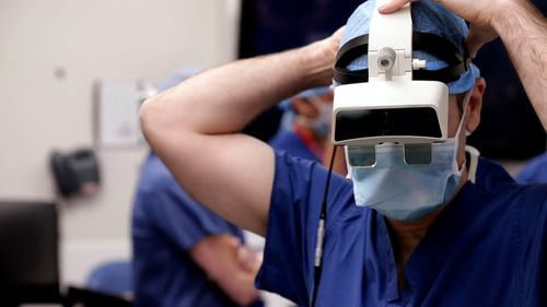 Augmented reality device gives surgeons 'super powers' in complicated procedures.