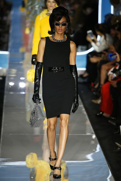 Joan Smalls at Moschino A/W '18, Milan Fashion Week