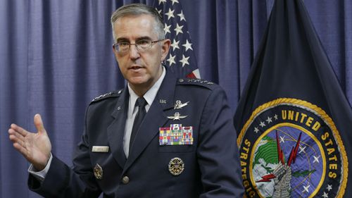 Air Force General John Hyten says he would refuse an illegal order to launch nuclear weapons. (AAP)