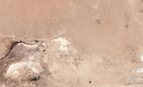 This satellite image shows a section of the California desert before Friday's 7.1 magnitude earthquake