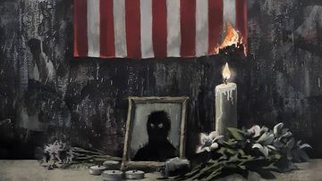 Renowned street artist Banksy has shown his support for the Black Lives Matter movement with a new piece of art.