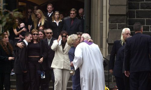 Victor Peirce's 2002 funeral.