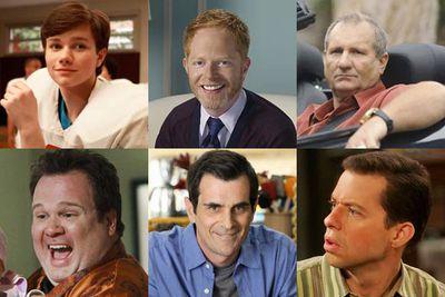 Chris Colfer, <i>Glee</i><br/><br/>Jesse Tyler Ferguson, <i>Modern Family</i><br/><br/>Ed O'Neill, <i>Modern Family</i><br/><br/>Eric Stonestreet, <i>Modern Family</i><br/><br/>Ty Burrell, <i>Modern Family</i><br/><br/>Jon Cryer, <i>Two and a Half Men</i>