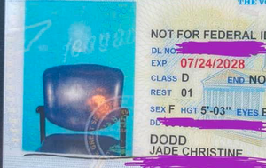 Office mix-up leaves picture of empty chair on woman's driver's licence
