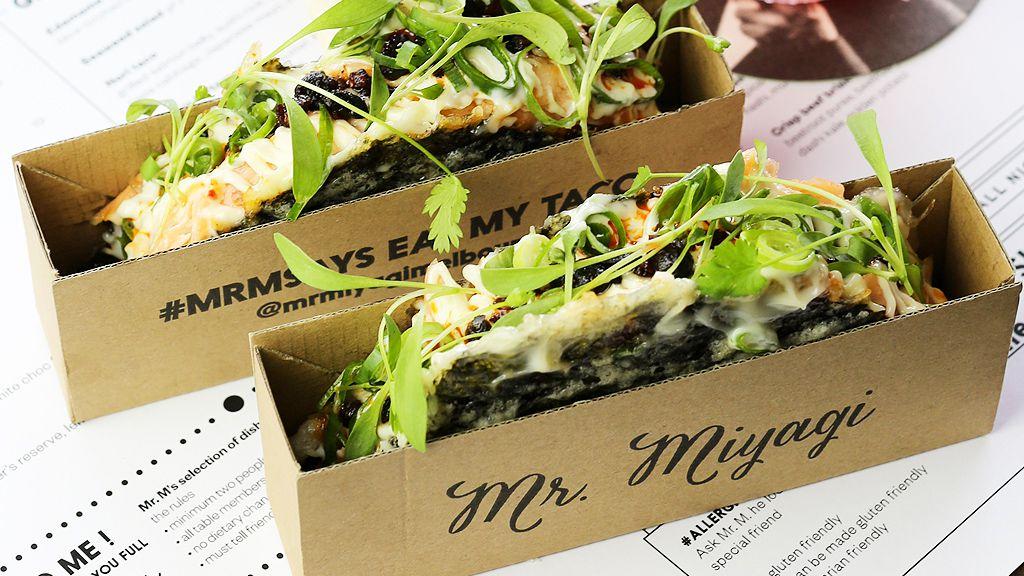 Mr Miyagi's nori taco (supplied)