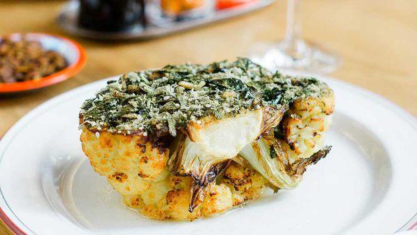 Supernormal's roast cauliflower, white miso and furikake