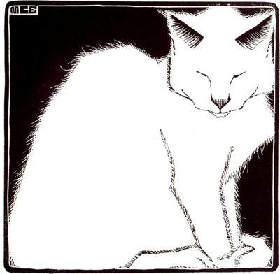 White Cat, M.C. Escher (1919)