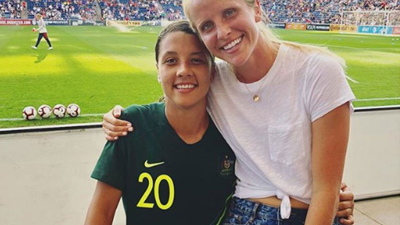 Sam Kerr with girlfriend Nicole Stanton.