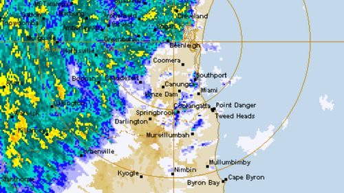 Widespread rainfall across northern NSW and southern Queensland. (BoM)