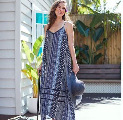 "<a href=""https://www.target.com.au/p/asymmetrical-maxi-dress/60592330"" target=""_blank"" draggable=""false"">Target Asymmetrical Maxi Dress, $35.</a>"