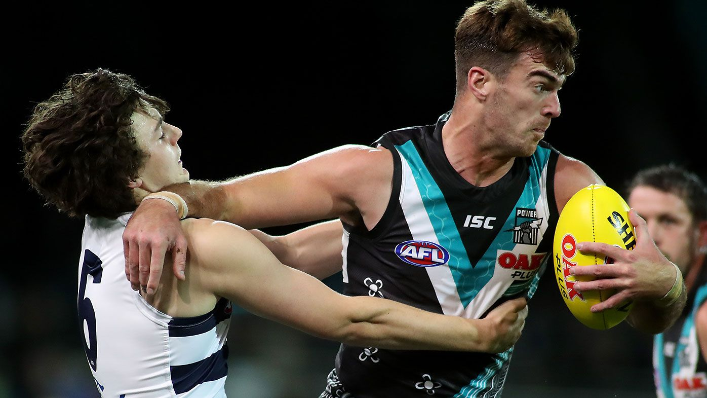 Port Adelaide ruckman Scott Lycett vindicates coach's decision with dominant performance