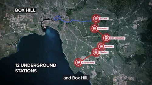 The unfunded $50 billion suburban rail line was announced yesterday, with more details revealed today. (AAP)