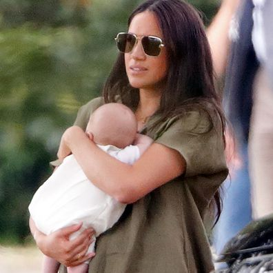 Meghan with her son Archie at the polo