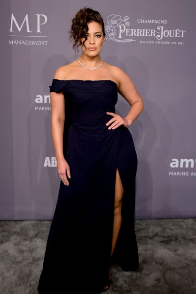 Ashley Graham in Vivienne Westwood at the 20th Annual amfAR Gala