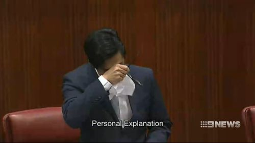 Pierre Yang has wept in parliament, saying he's deeply hurt by reports casting doubts on his loyalty to Australia and suggesting he has links to China's Communist Party.