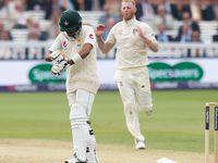 England bowler Stokes breaks batsman's arm