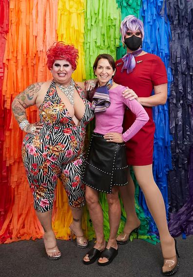 Virgin Australia Pride Flight host Penny Tration
