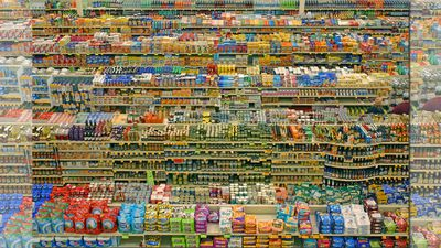 '99 Cent II Diptychon' (2001) by Andreas Gursky sold in February 2007 for US$3,346,456 at an auction at Sotheby's London, making it the fifth most expensive photograph ever. (Supplied)