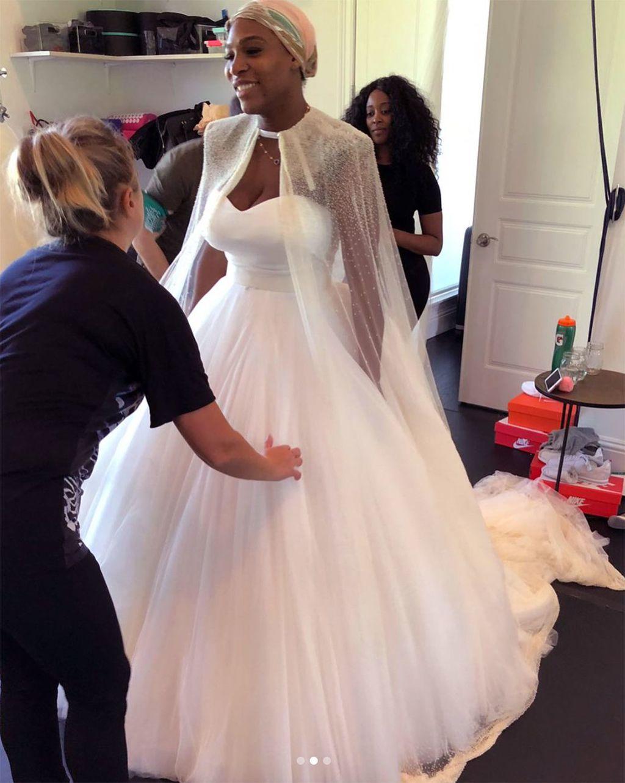 Serena Williams reveals unseen wedding dress photos