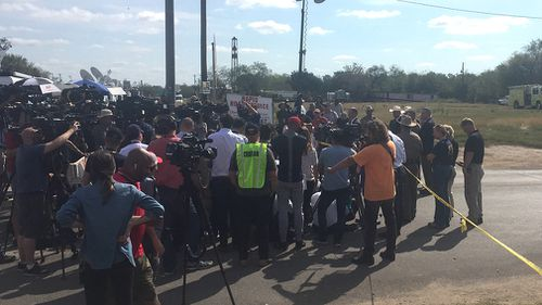 Sutherland Springs has been flooded with international media since the shooting. (Lizzie Pearl)
