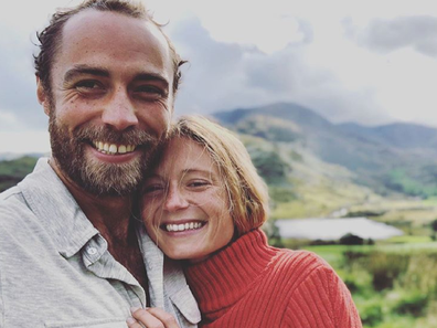 James Middleton with his fiancee