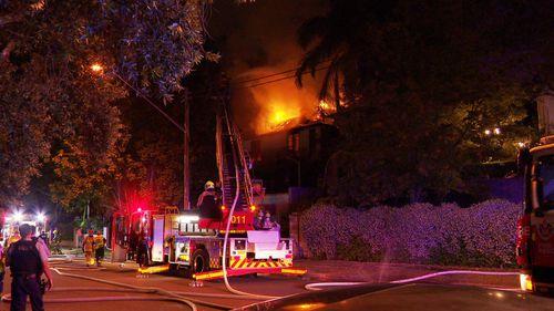 A fire tore through a Centennial Park home last night.