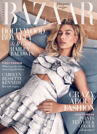 """Rising model Hailey Baldwin continues to power walk along the road to success, scoring the cover of the Australian edition of <em>Harper&rsquo;s Bazaar</em> photographed by Darren McDonald.<br /> <br /> In the cover story the daughter of actor Stephen Baldwin and niece of actor/Trump impersonator Alec Baldwin has spoken out against accusations that her surname is responsible for her success.<br /> <br /> &ldquo;People&rsquo;s perception of me is that I am where I am because of my family and my name. They think &lsquo;If she weren&rsquo;t a Baldwin, she wouldn&rsquo;t be in this position.&rsquo; They think the same thing for Gigi [Hadid], Bella [Hadid] and Kendall [Jenner],&rdquo; she says. <br /> <br /> &ldquo;But the way I explain it is: this is our family business. If you were born into a family of doctors or lawyers and decided to follow in their footsteps, nobody would think you&rsquo;re only a doctor or lawyer because you came from a family of doctors or lawyers. You still have to go to school, and you still have to go through the process of getting there.&rdquo; <br /> <br /> With gigs fronting campaigns for Guess, <a href=""""http://honey.nine.com.au/2016/10/10/07/22/hailey-baldwin-sass-bide"""" target=""""_blank"""">Sass &amp; bide</a> and Ugg as well as runway appearances with Dolce &amp; Gabbana, Tommy Hilfiger and Elie Saab, <a href=""""http://honey.nine.com.au/2016/09/19/10/57/hailey-baldwin-london-fashion-week"""" target=""""_blank"""">Baldwin</a> is well and truly &lsquo;there&rsquo;. The 19-year-old from Arizona, who grew up on film sets with her father, has also teamed up with local cosmetics label <a href=""""http://honey.nine.com.au/2016/08/22/12/10/modelco-hailey-baldwin"""" target=""""_blank"""">Model Co</a> on a new makeup range but her career highlight so far was working with the godfather of fashion.<br /> <br /> &ldquo;I recently got to work with Karl Lagerfeld for the first time, and that was amazing. He&rsquo;s a genius, and, literally, when you say a living legend, he is a l"""