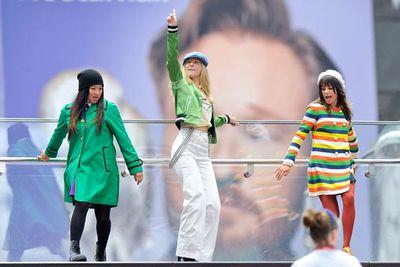 Jenna Ushkowitz, Heather Morris and Lea Michele.