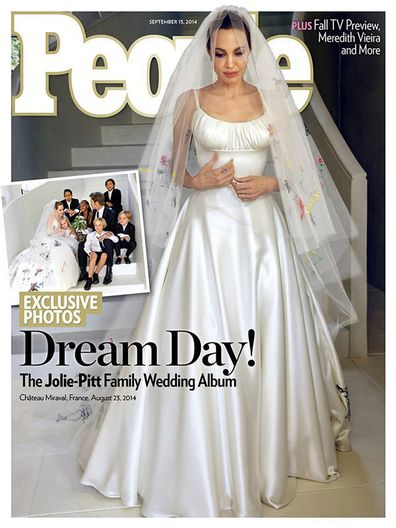 Angelina Jolie, Brad Pitt, wedding, photo