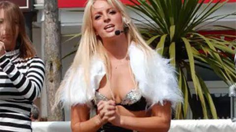 Britney Spears impersonator Michaela Weeks